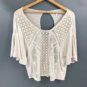 Kimchi Blue Urban Outfitters Beige Top, Medium